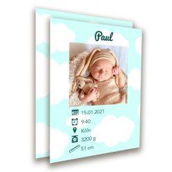 Geburtskarte A6 hoch
